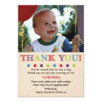 Boys birthday thank you card