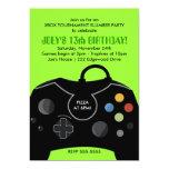 "BOYS Birthday Video Game Station Party Invitation 5"" X 7"" Invitation Card"