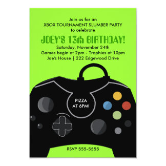 video game party invitations  announcements  zazzle, party invitations