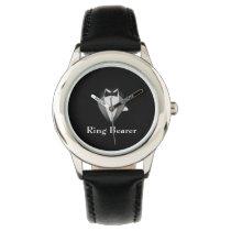 Boy's Black Tux Ring Bearer Kid's Adjustable Watch