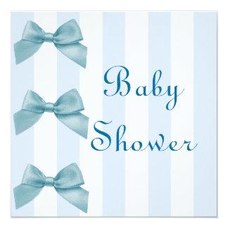Boys Blue Bow Baby Shower Invitation