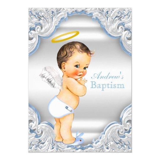 Angel Baptism Invitations Announcements Zazzle