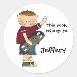 Boy's bookplate sticker