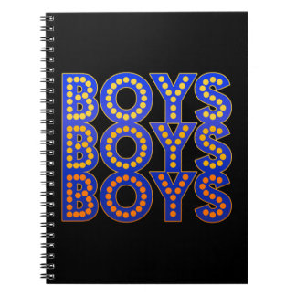 Boys Boys Boys Spiral Notebook
