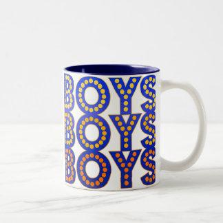 Boys Boys Boys Two-Tone Coffee Mug
