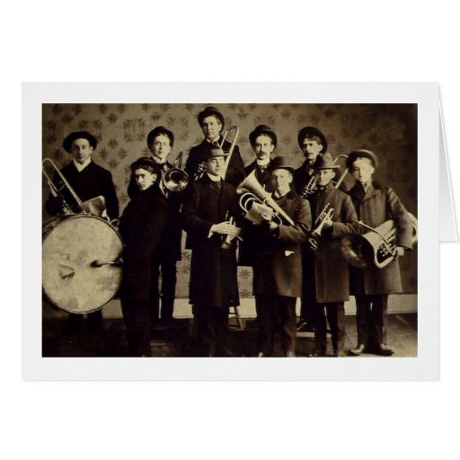 Boys Brass Band, Warsaw Indiana Vintage Greeting Card