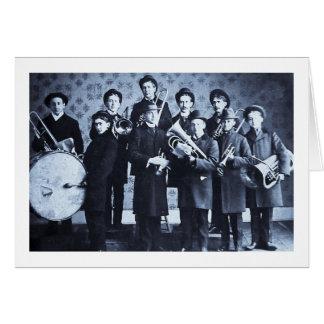 Boys Brass Band, Warsaw Indiana Vintage Card