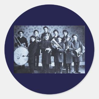 Boys Brass Band, Warsaw Indiana Vintage Classic Round Sticker