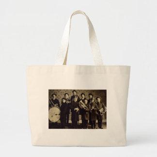 Boys Brass Band, Warsaw Indiana Vintage Large Tote Bag
