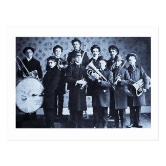 Boys Brass Band, Warsaw Indiana Vintage Postcard