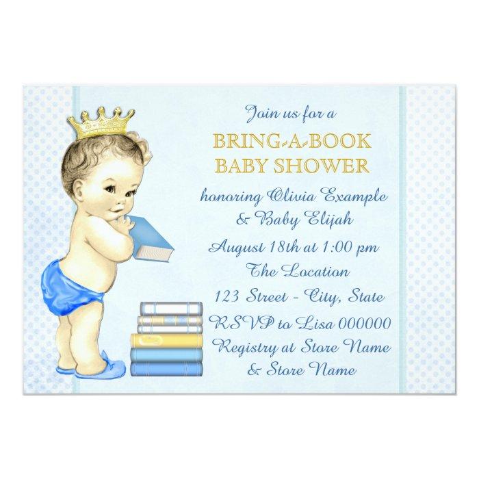 Boys Bring A Book Baby Shower Card Zazzle. Boys Bring A Book Baby Shower ...