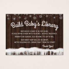 Boys Bring A Book Cards Rustic Wood Snowflake at Zazzle