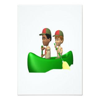 Boys Canoeing Card