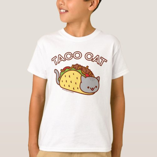 Boys Cat T_Shirt _ TACO CAT