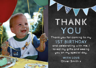 1st Birthday Thank You Gifts On Zazzle