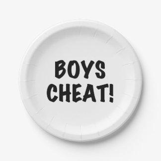 Boys Cheat Paper Plate