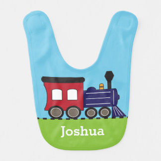 Boy's Choo Choo Train Personalized Bib