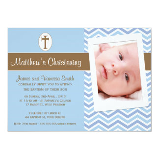 Boys Christening Baptism Invitation