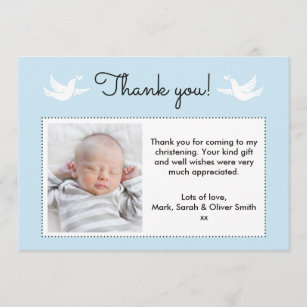Christening Thank You Cards Zazzle