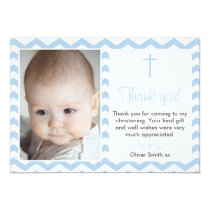 Boys Christening/Baptism Thank You card