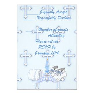Boys Christening Wish 3.5x5 Paper Invitation Card