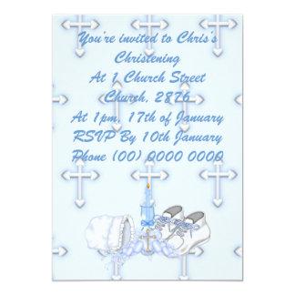 Boys Christening Wish 5x7 Paper Invitation Card