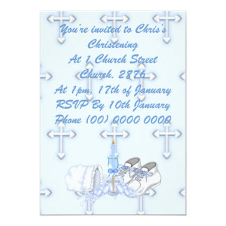 Boys Christening Wish Card