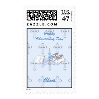 Boys Christening Wish Postage