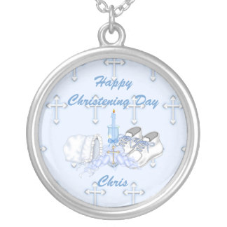 Boys Christening Wish Silver Plated Necklace