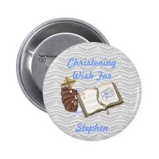Boys Christenings Book 2 Inch Round Button