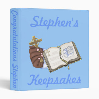 Boys Christenings Book 3 Ring Binder