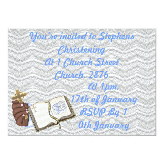 Boys Christenings Book 4.5x6.25 Paper Invitation Card