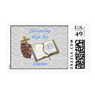 Boys Christenings Book Postage Stamps