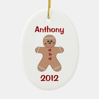 Boy's Christmas Gingerbread Ornament