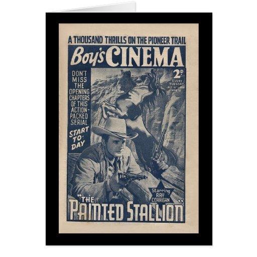 Boys Cinema 1938 - The Painted Stallion Card