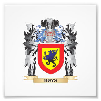 Boys Coat of Arms - Family Crest Photo Print
