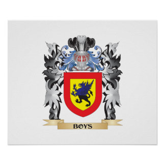 Boys Coat of Arms - Family Crest Poster