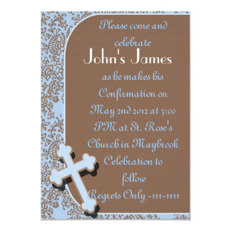 BOYS Confirmation Invitations
