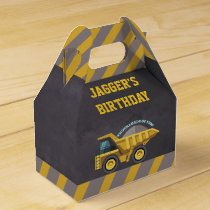 Boys Construction Theme Birthday Party Favor Box