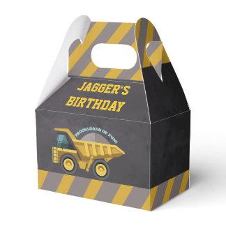 Boys Construction Theme Birthday Party Favor Box