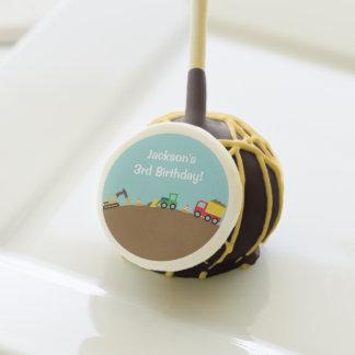 Boys Construction Vehicles Theme Birthday Party Cake Pops