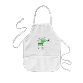 Boy's Cool Doodle Cool Helicopter & Name Kids' Apron