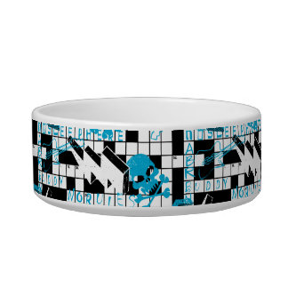 Boy's crossword puzzle bowl
