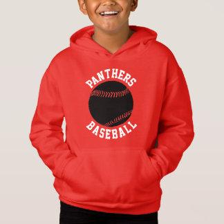 Boys Custom Color Baseball Hoodie Sweatshirt