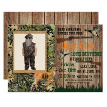 Boys Deer Hunting Birthday Invitation