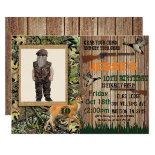 Hunting birthday invitations announcements zazzle boys deer hunting birthday invitation filmwisefo