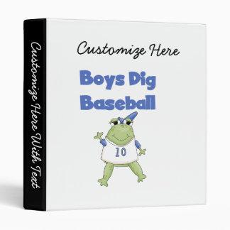 Boys Dig Baseball T-shirts and Gifts Binder