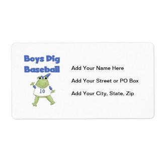 Boys Dig Baseball T-shirts and Gifts Label