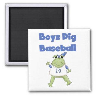 Boys Dig Baseball T-shirts and Gifts Magnet