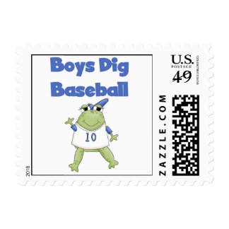 Boys Dig Baseball T-shirts and Gifts Postage Stamp